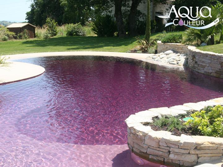 Aquacouleur tm coloration de piscine de piscine for Tendance piscine